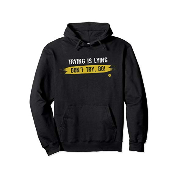 Trying-black-hoodie
