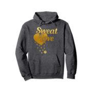 sweat Love hoodie-dark grey