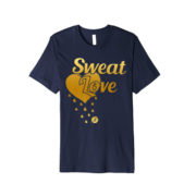 sweat Love shirt-dark blue