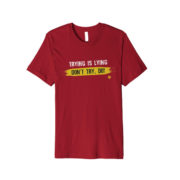trying shirt - red